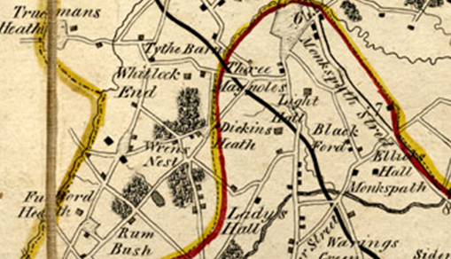 Yates's Map of Warwickshire, 1775