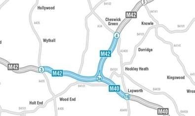 M40 M42 interchange map